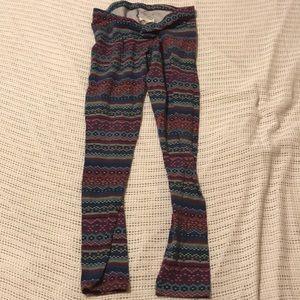 Arizona Jean Co Sweater Print Leggings womens L